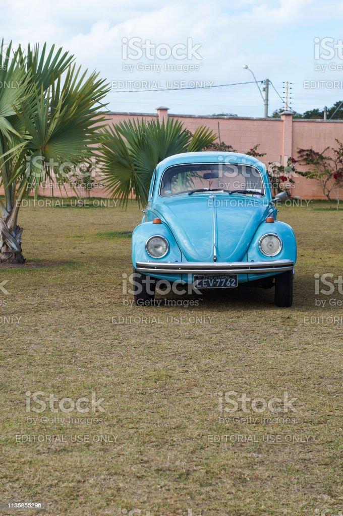 Blue Beetle Cars : beetle, Retro, Vintage, Beetle, Volkswagen, Classic, German, Exhibition, Stock, Photo, Download, Image, IStock