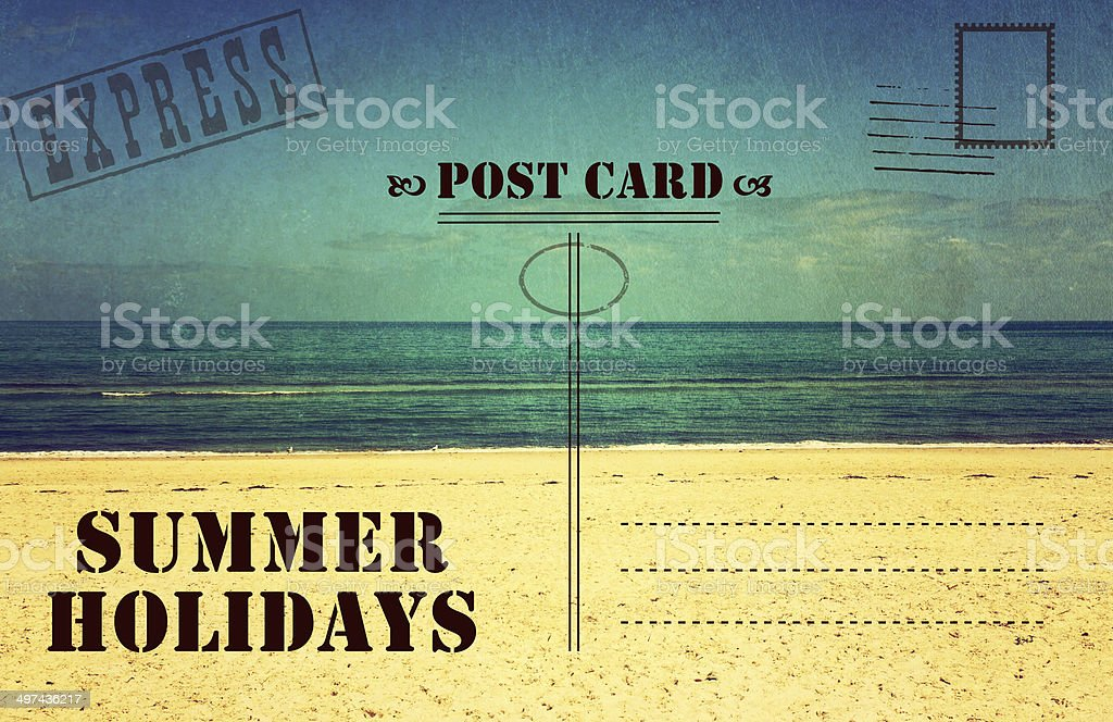 Retro Vintage Filter Style Old Faded Summer Holidays Vacation Postcard Stock Photo Download Image Now Istock