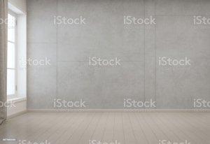 empty background interior wall modern concrete minimal rendering floor 3d wooden living illustration carpet