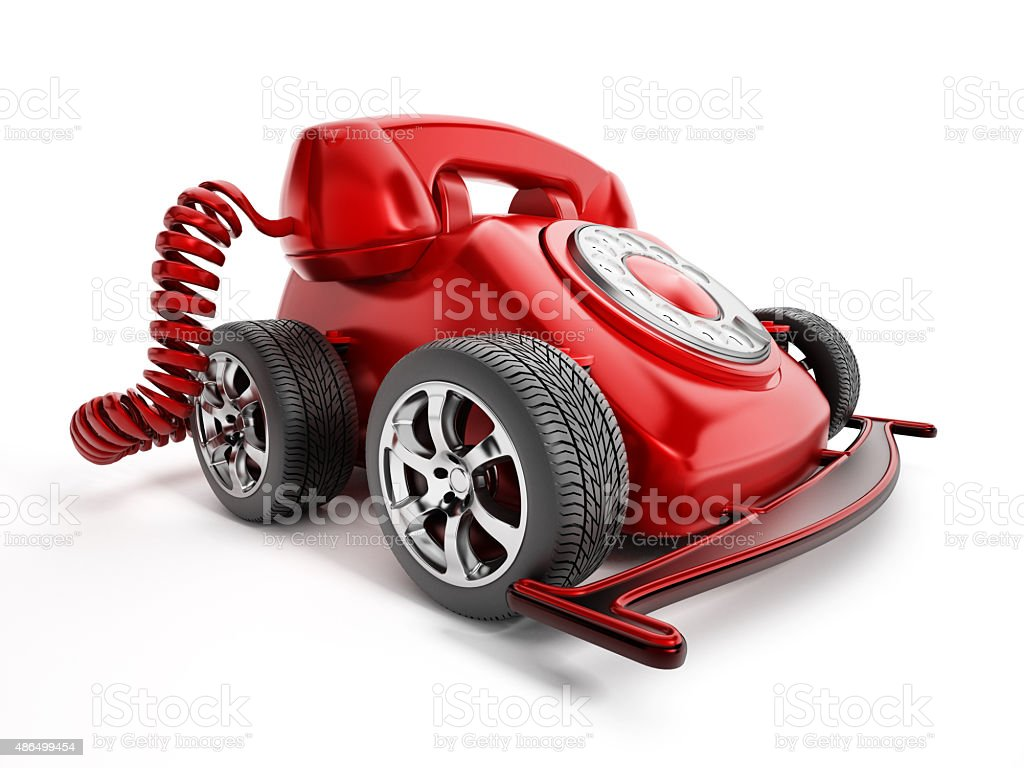 hight resolution of rotary telephone with wheels royalty free stock photo