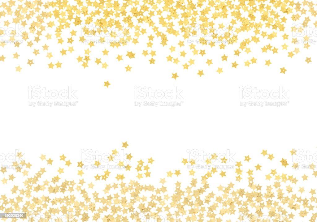Falling Stars Gif Wallpaper Scattered Gold Star Shape Confetti Borders Stock Photo