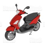 Foto De Scooter Motorcycle Moped Isolated On White Background E Mais Fotos De Stock De Bicicleta Motorizada Istock