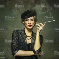 Royalty Free Smoking Women Cigarette Cigarette Holder ...