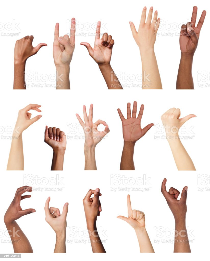 set of various hand
