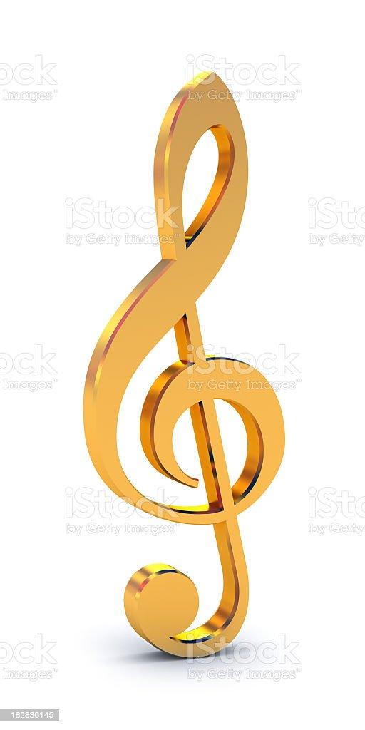 treble clef with 8