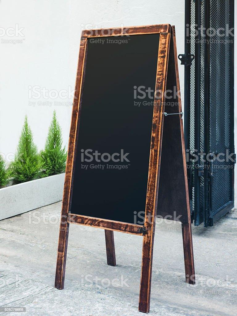 signboard stand chalkboard wooden