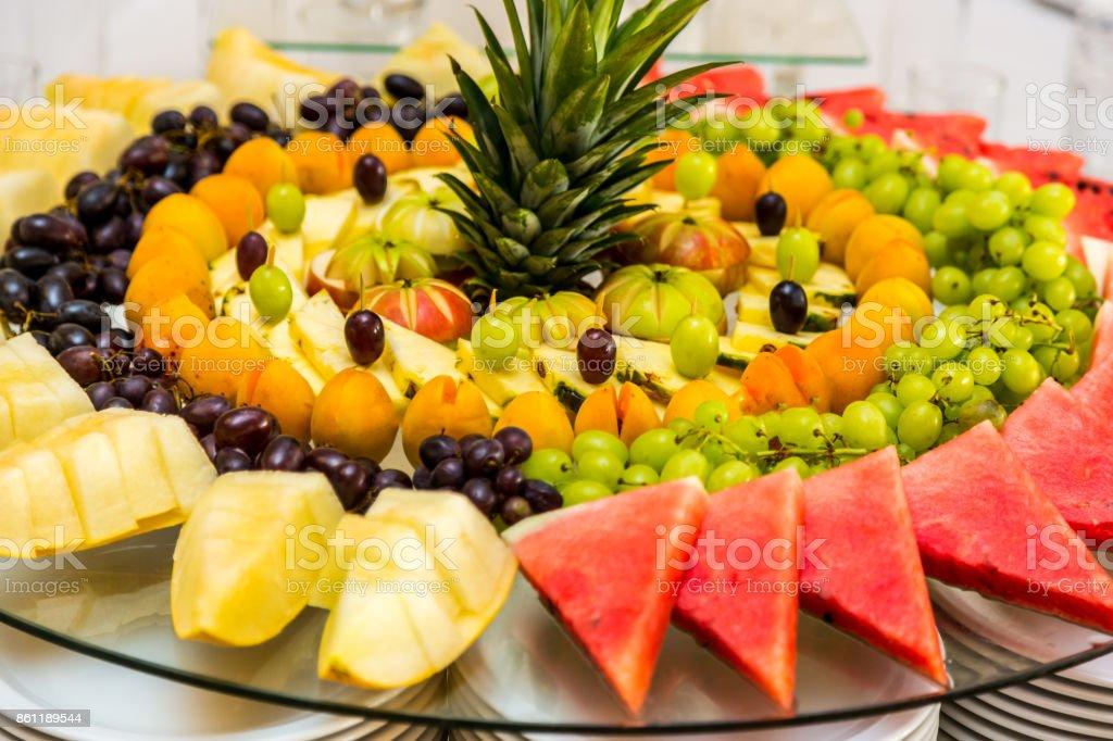sliced fruit on the