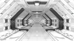 future fi sci corridor smart gray astuta stanza fantascienza futura grigio moderna colore bianco fondo toekomstige grijze slimme witte achtergrond