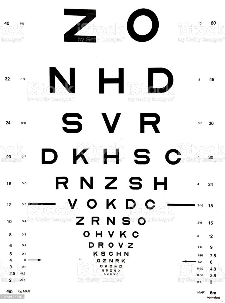 Snellen Eye Chart Stock Photo & More Pictures of Alphabet