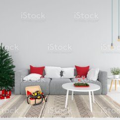 Living Room Tree Sofa Set Designs For Very Small And Christmas In 3d Rendering Stock Photo Royalty Free