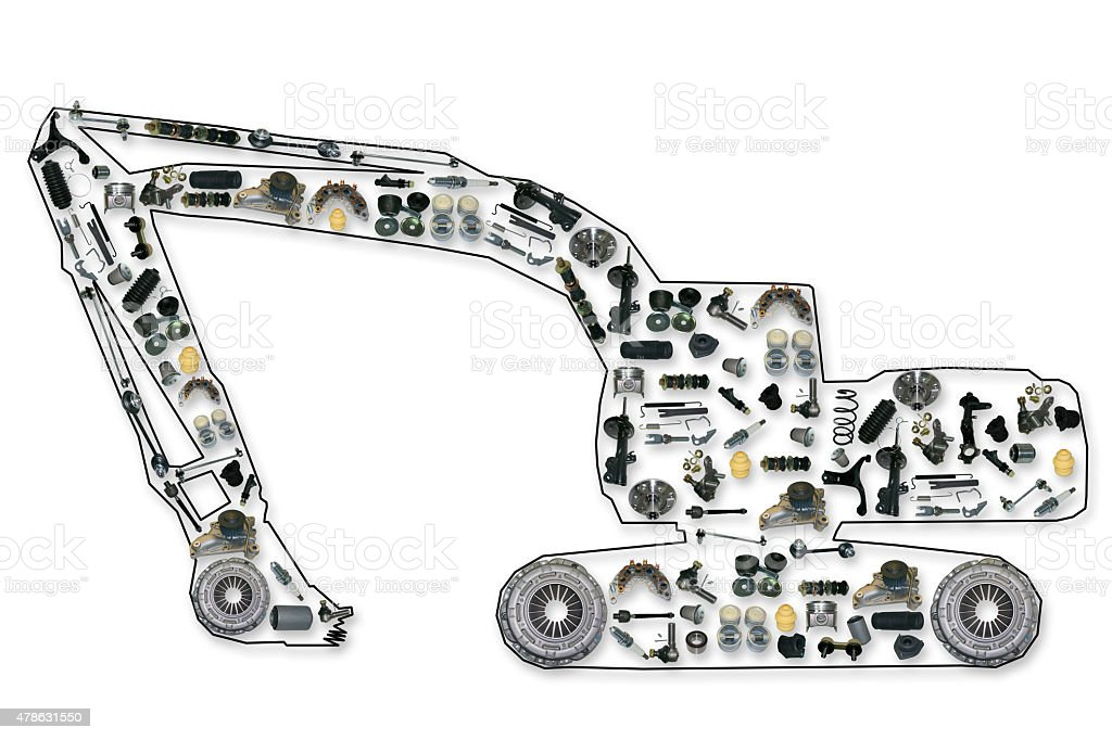 Spare Parts For Truck Or Excavator Stock Photo & More