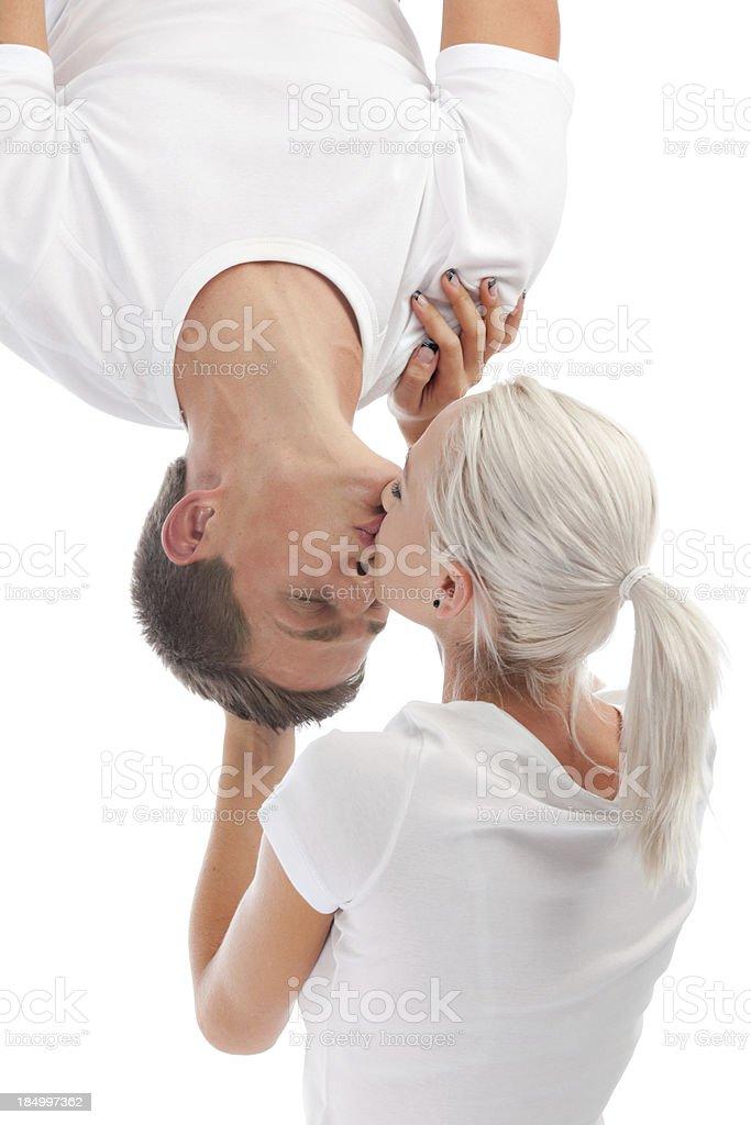 Upside Down Kiss : upside, Spiderman, Couple, Stock, Photo, Download, Image, IStock