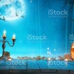 Spooky Halloween Pumpkin In Forest Stock Photo Download Image Now Istock