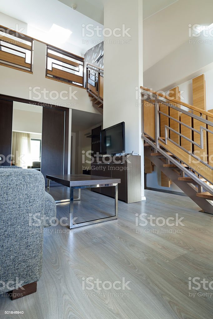 Stairs In Duplex Apartment Stock Photo   Download Image ...