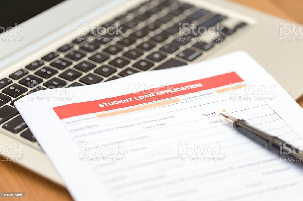 Student Loan Application Form stock photo 618527566 | iStock