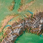 Switzerland Country 3d Render Topographic Map Snow Mountains Stock Photo Download Image Now Istock