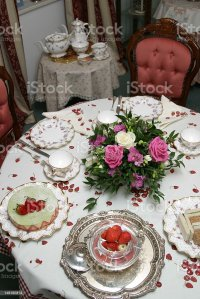 Table Setting English Tea Time Stock Photo & More Pictures ...