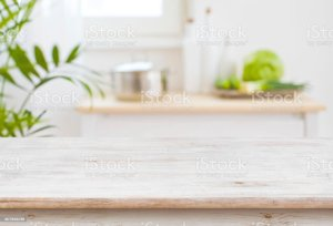 background kitchen table blurred cafe istock