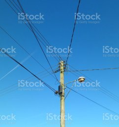 telegraph pole with telephone wires and street lamp royalty free stock photo [ 1024 x 768 Pixel ]