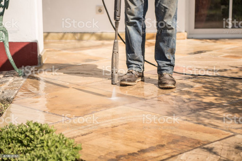 https www istockphoto com photo terrace clean with the pressure washer gm870616132 145363045