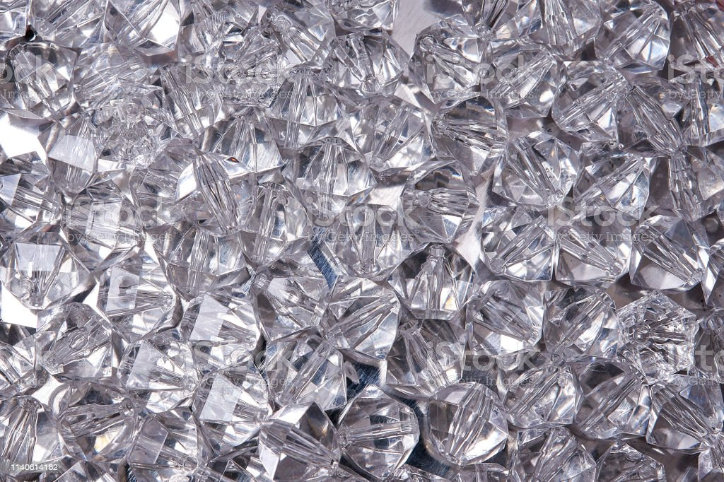 texture of crystal rhinestones