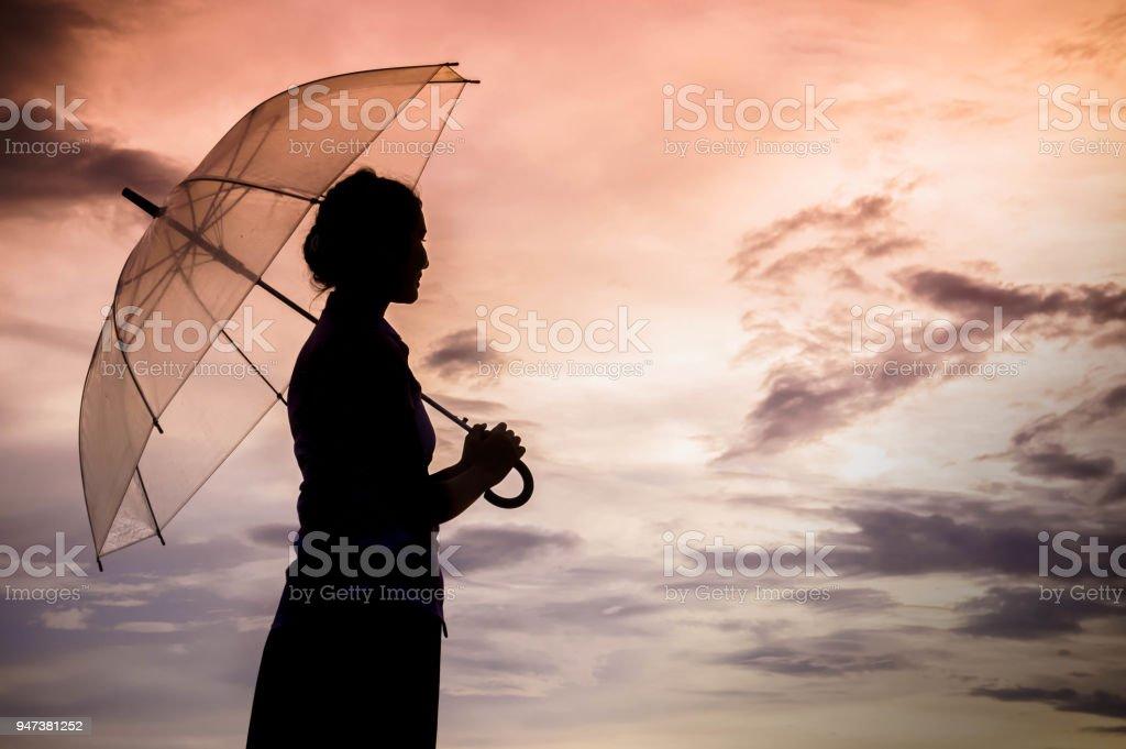sad girl in rain
