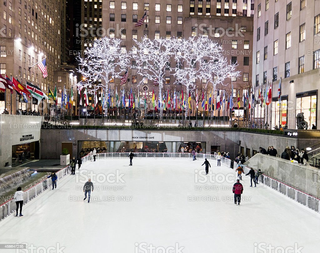 The Ice Skating Rink At Rockefeller Center Stock Photo - Download Image Now - iStock