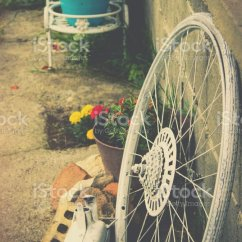 The Bike Chair Extra Wide Folding Padded Outdoor Wheel Of Decoration Stock Photo 688054332 Istock Royalty Free