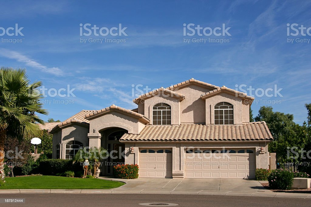 Three Car Garage House In Southwest Stock Photo Download Image Now Istock