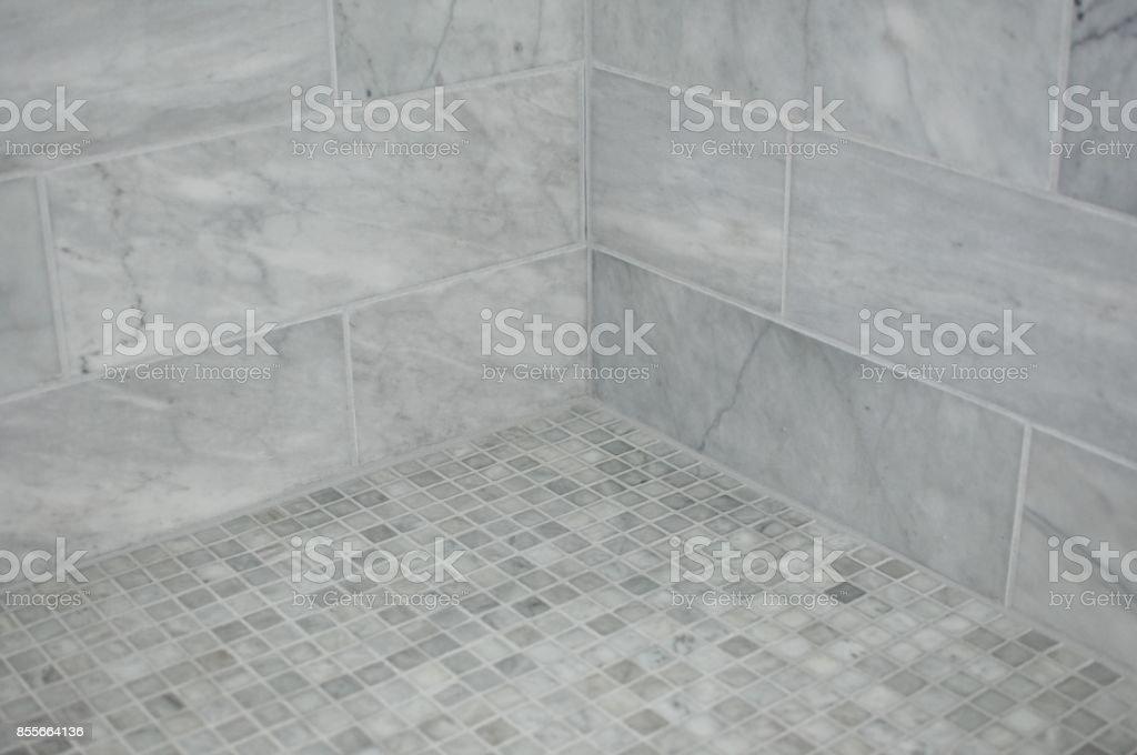 tiled shower corner stock photo download image now istock