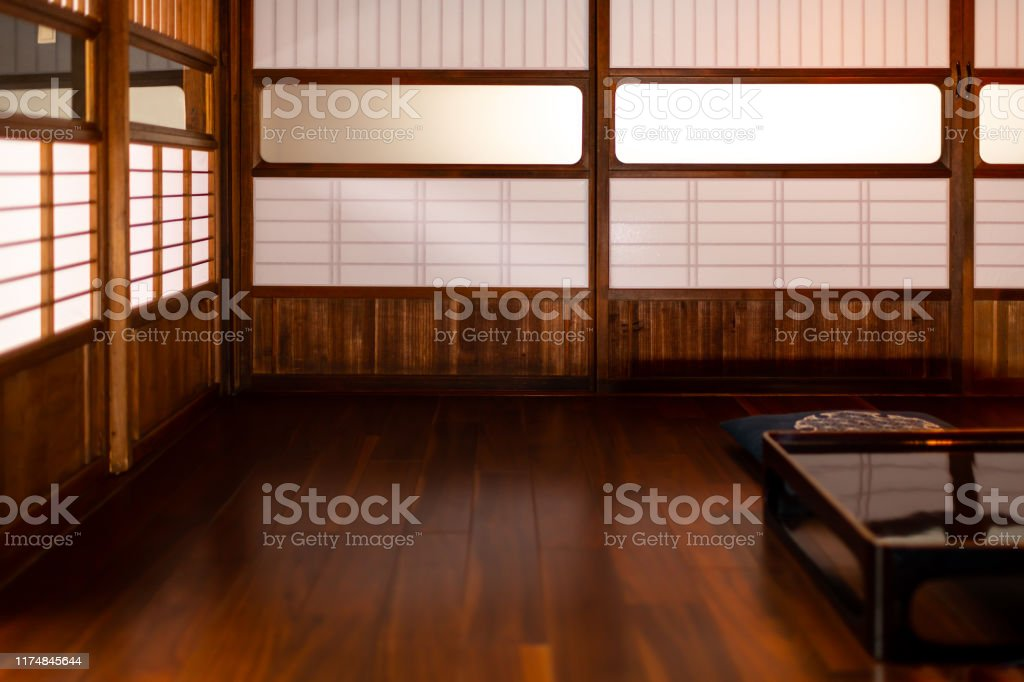 https www istockphoto com photo traditional japanese machiya house or ryokan restaurant with black lacquered wooden gm1174845644 326900856