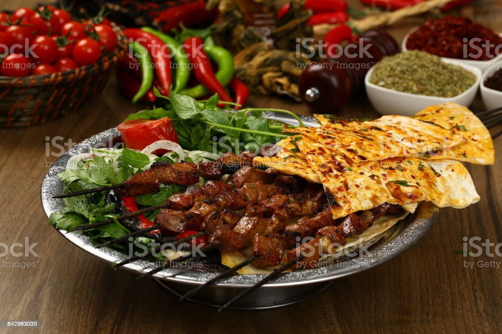 traditional turkish kebab with