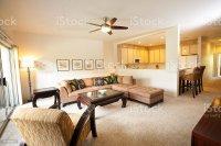 Tropical Themed Condominium Apartment Living Room And ...