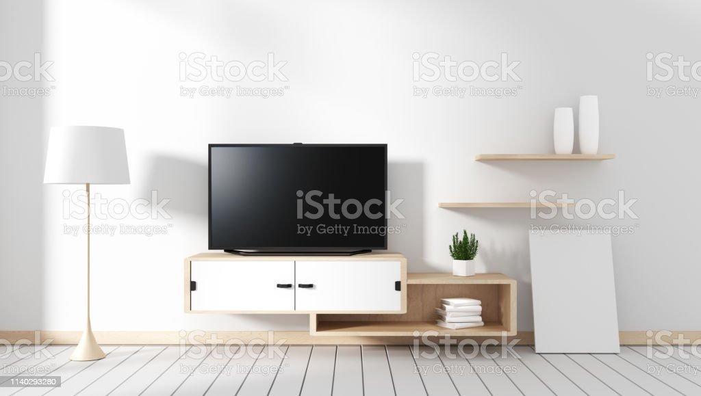 https www istockphoto com fr photo meuble tv dans salle vide moderne japonais style zen designs minimaux rendu 3d gm1140293280 305084159