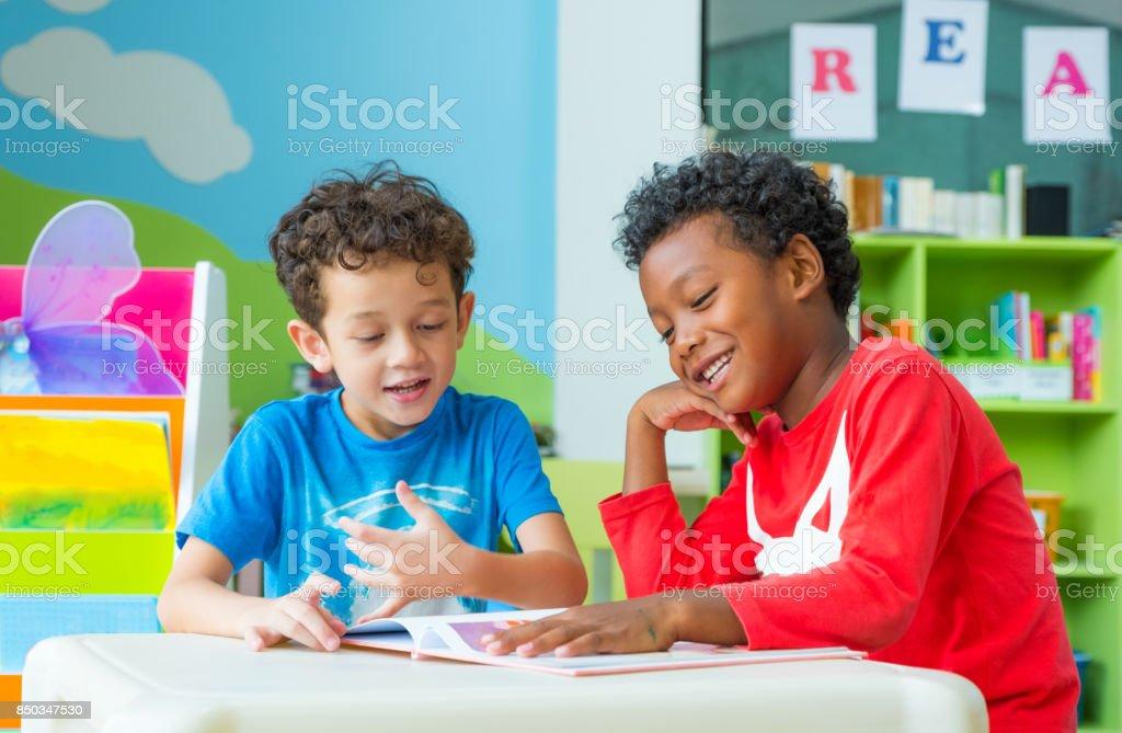 two boy kid sit