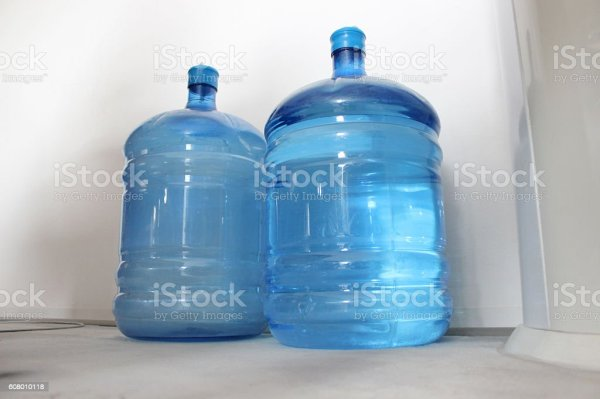 Two Reusable Big Water Bottles Stock Photo More Pictures