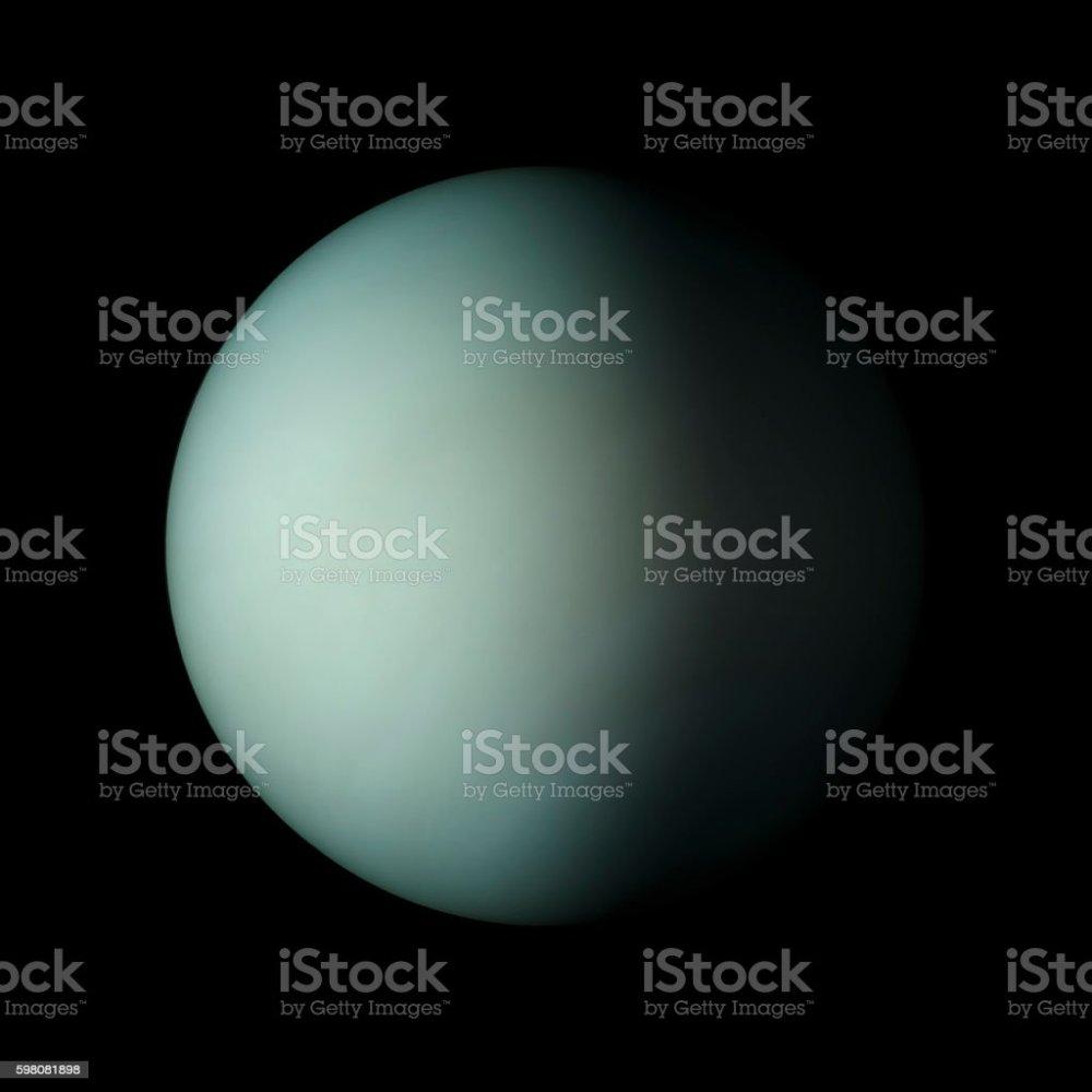 medium resolution of uranus solar system planet on black background 3d rendering foto de stock libre de derechos