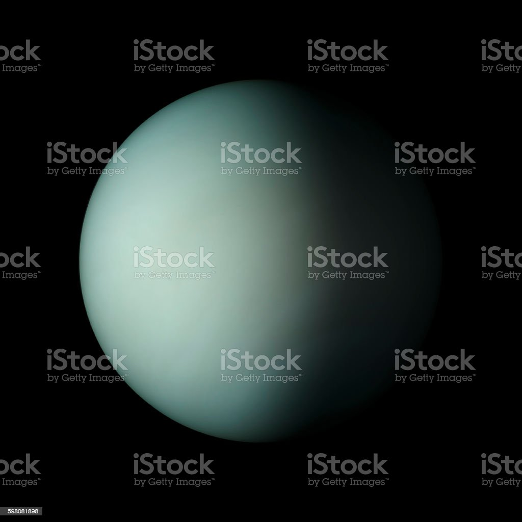 hight resolution of uranus solar system planet on black background 3d rendering foto de stock libre de derechos