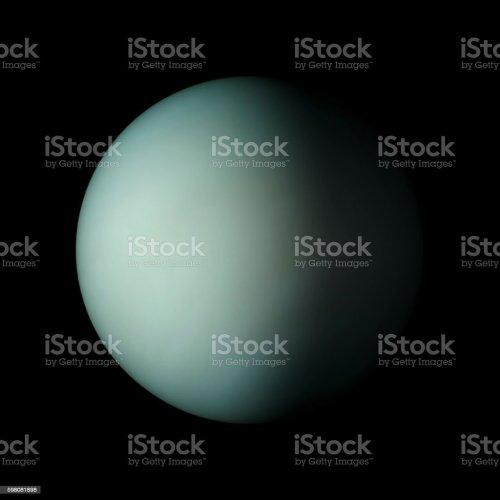 small resolution of uranus solar system planet on black background 3d rendering foto de stock libre de derechos