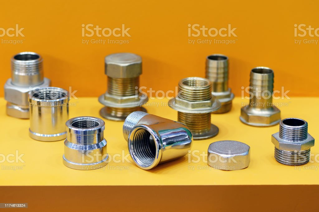 A Variety Of Plumbing Pipe Connectors Adapters Stock Photo Download Image Now Istock