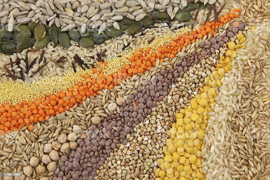 Various Seeds And Grains Stock Photo - Download Image Now ...