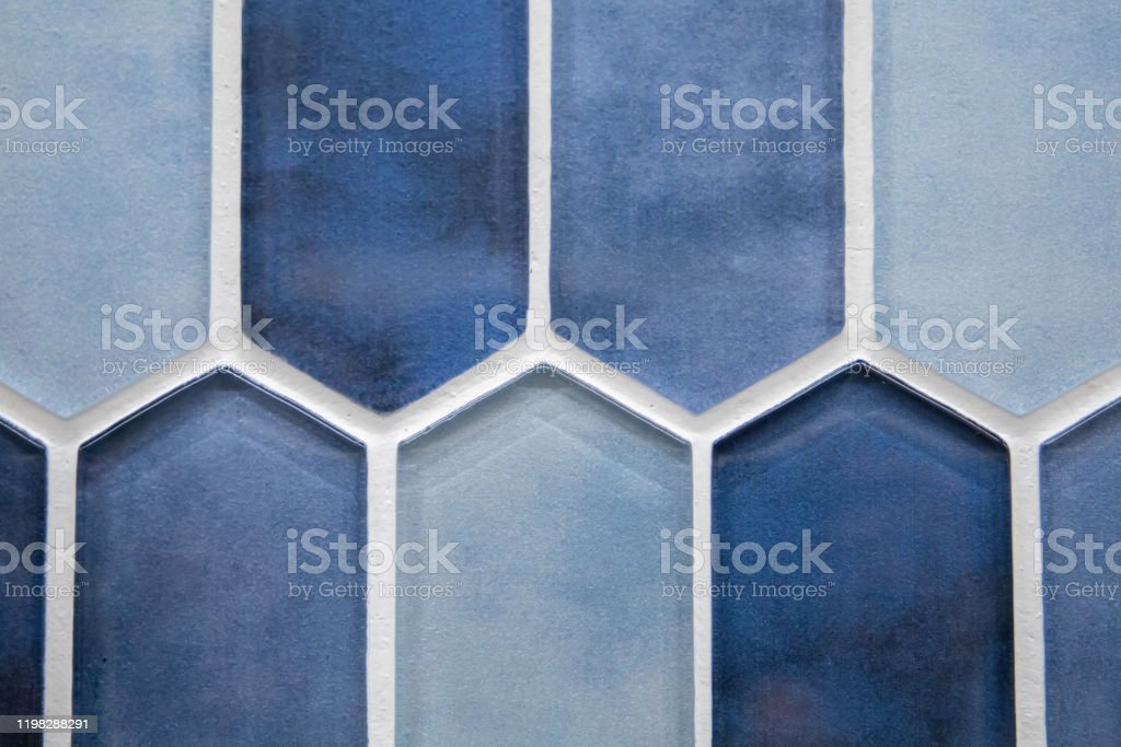 various shades of blue glass ceramic tile for a bathroom or kitchen floor or backsplash stock photo download image now istock