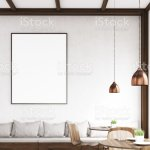 Vertical Framed Poster On A Cafe Wall Gray Stock Photo Download Image Now Istock