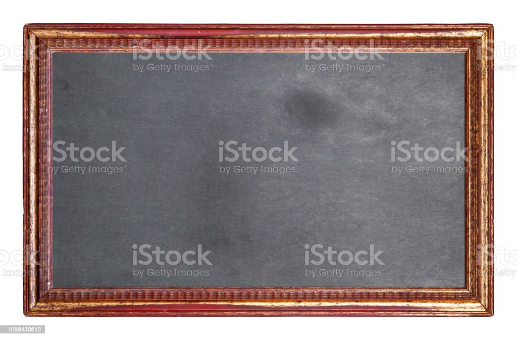 vintage framed blackboard isolated