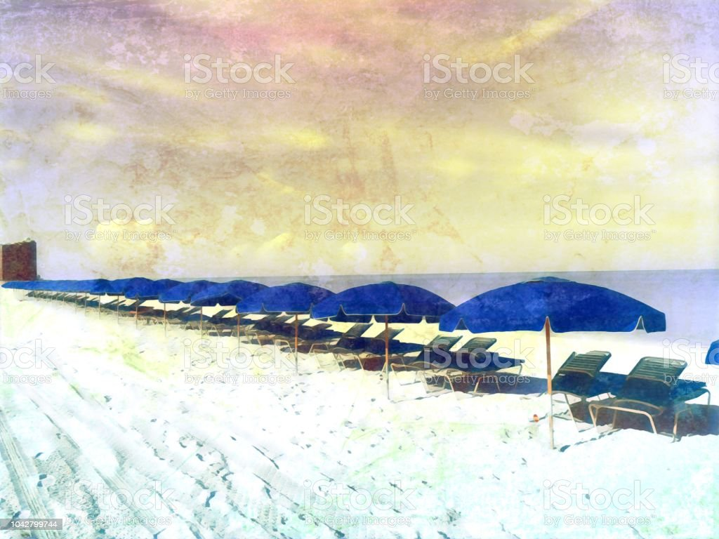 Vintage Grunge Beach Vacation Postcard Stock Photo Download Image Now Istock