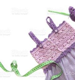 vestido de crochet violeta y lila foto de stock libre de derechos [ 1024 x 775 Pixel ]