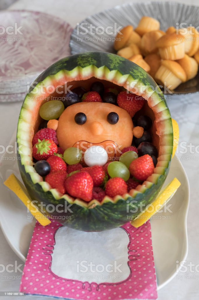 Baby Shower Fruit Bowl : shower, fruit, Watermelon, Carriage, Fruit, Shower, Stock, Photo, Download, Image, IStock