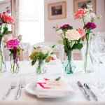 Wedding Banquet Small Restaurant Floral Decor In Red Informal Style Stock Photo Download Image Now Istock