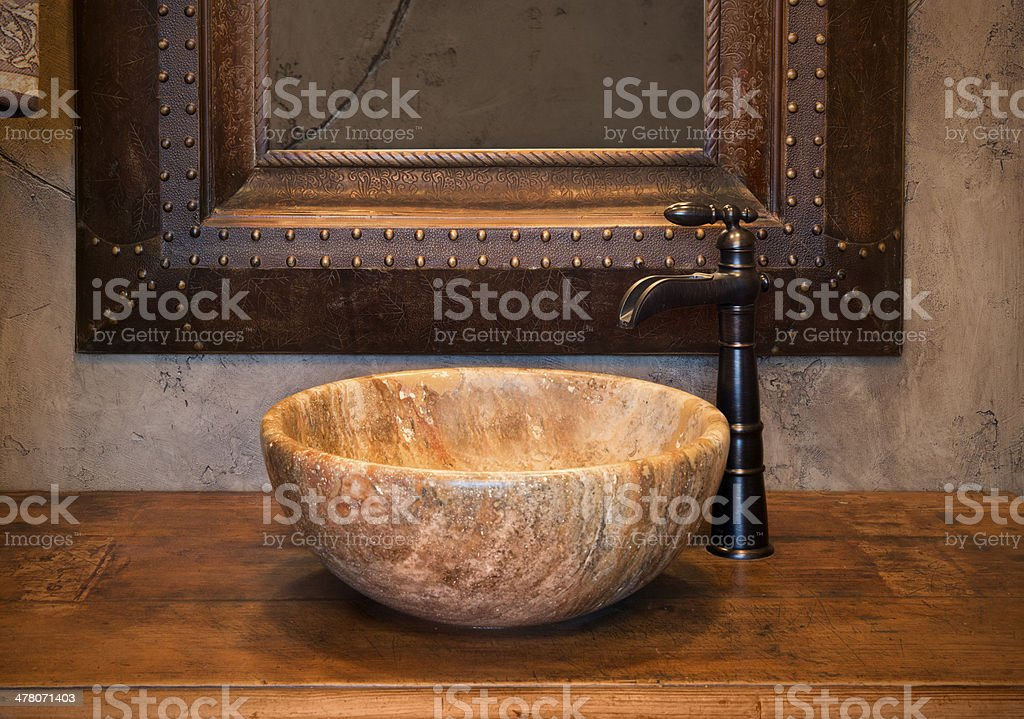 https www istockphoto com photo western style above counter granite bathroom sink and faucet gm478071403 26955893