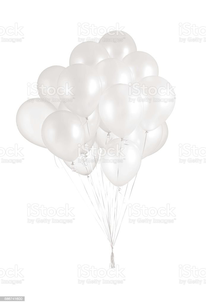 best white balloons stock